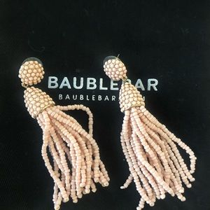 Bauble Bar Blush Tassel Earrings